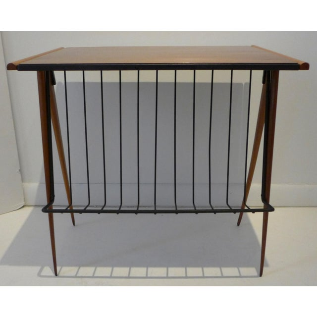 1950s Side Table with Magazine Rack by Arthur Umanoff For Sale - Image 5 of 9