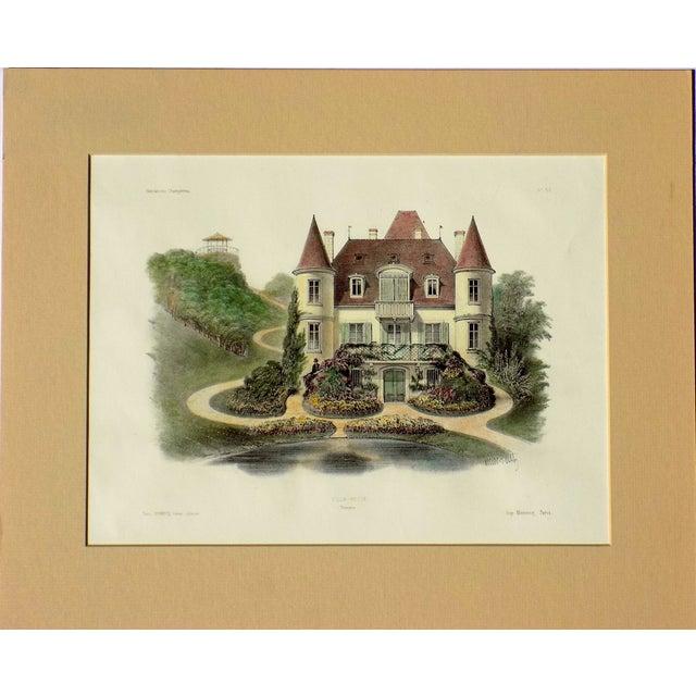 1860 Villa Nueve, Touraine Lithograph For Sale