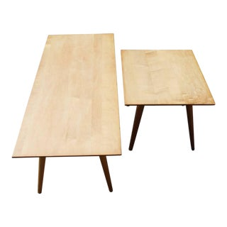 1950s Vintage Paul McCobb for Winchendon Planner Group Coffee Table & End Table- A Pair For Sale