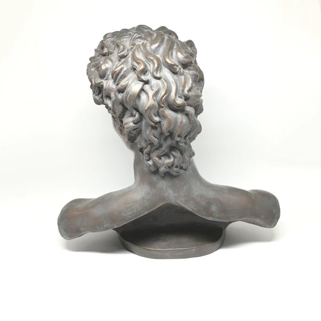 Vintage Neoclassical Roman Plaster Male Bust of David - Image 4 of 6