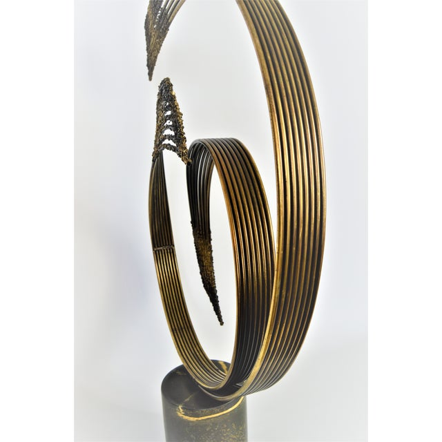 Curtis C. Jere Mid-Century Modern Vintage Brass Brutalist Kinetic Table Sculpture MCM Millennial - Image 6 of 11
