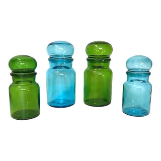Belgian Lidded Apothecary Jars - Set of 4 For Sale