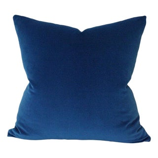 Kravet Marine Blue Velvet Pillow Cover For Sale