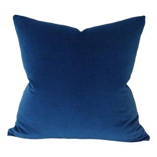 Kravet Marine Blue Velvet Pillow Cover For Sale