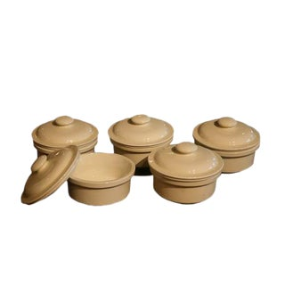 French Pottery Lidded Tureens - Set of 5
