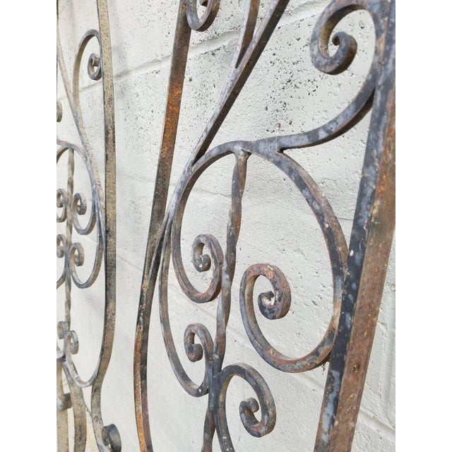 Architectural Iron Panels - a Pair For Sale - Image 4 of 10