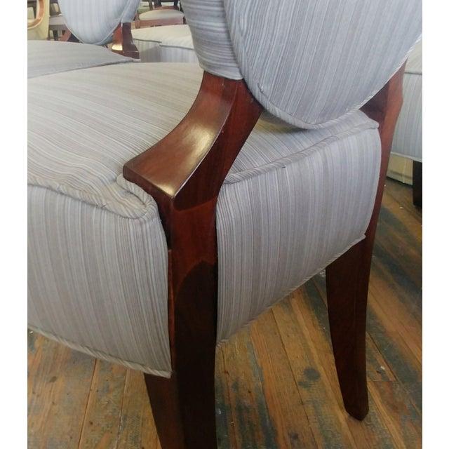 Wood Henredon Furniture Barbara Barry Walnut Oval Back Side Chairs - Set of 6 For Sale - Image 7 of 11