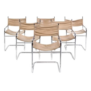 Set of 6 Dining Chairs by Mart Stam For Sale