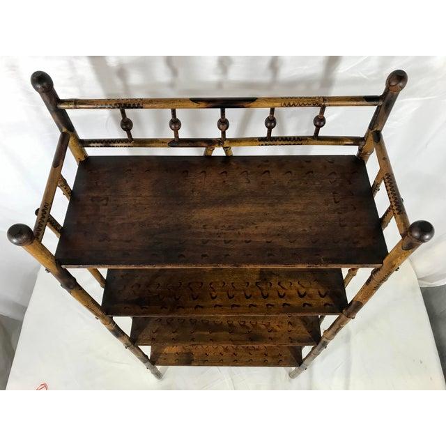 19th Century Bamboo Bookshelf For Sale - Image 6 of 7