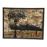 Image of Vintage Mid-Century Framed Painting For Sale