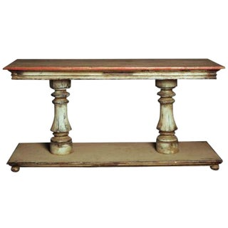 Pair of Spanish Painted Wood Consoles