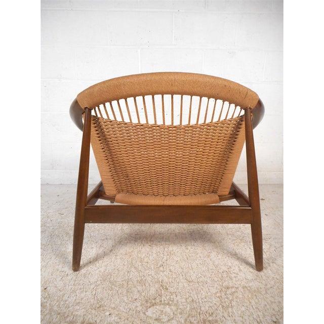"""1960s Danish Modern """"Ringstol"""" Hoop Chair by Illum Wikkelsø For Sale - Image 5 of 12"""