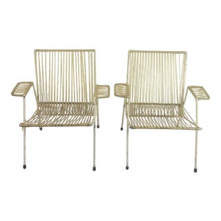 Midcentury Mexican Armchairs in the Style of Clara Porset - a Pair For Sale