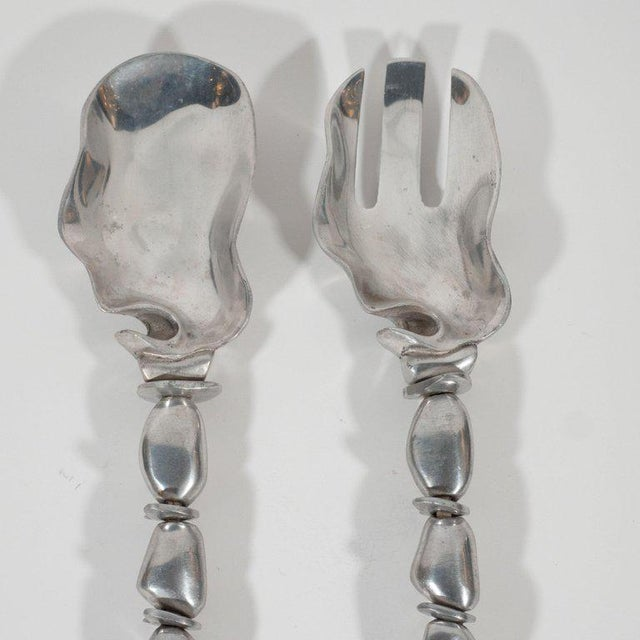 Mid-Century Modern Polished Aluminium Serving Set by Arthur Court For Sale - Image 4 of 12