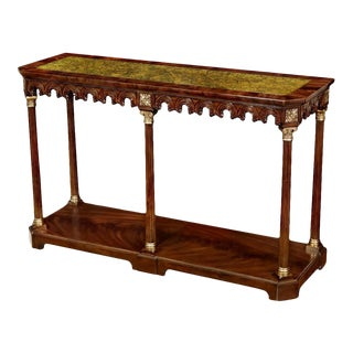 Scarborough House Crotch Mahogany Console Table For Sale