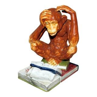 Mid 20th Century Andrea by Sadek Monkey Figurine For Sale