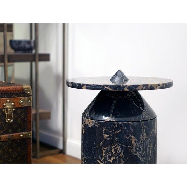 MMairo Black Portoro Marble Coffee Table by Karen Chekerdjian For Sale - Image 4 of 13