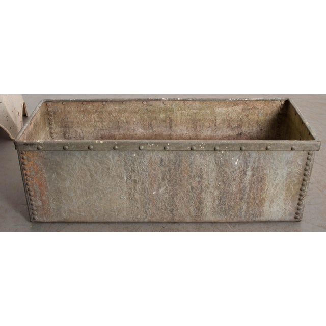 Gray English 19th Century Zinc Trough For Sale - Image 8 of 11
