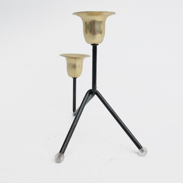 1970s Modernist Standing Candlestick, Belgium For Sale - Image 4 of 9