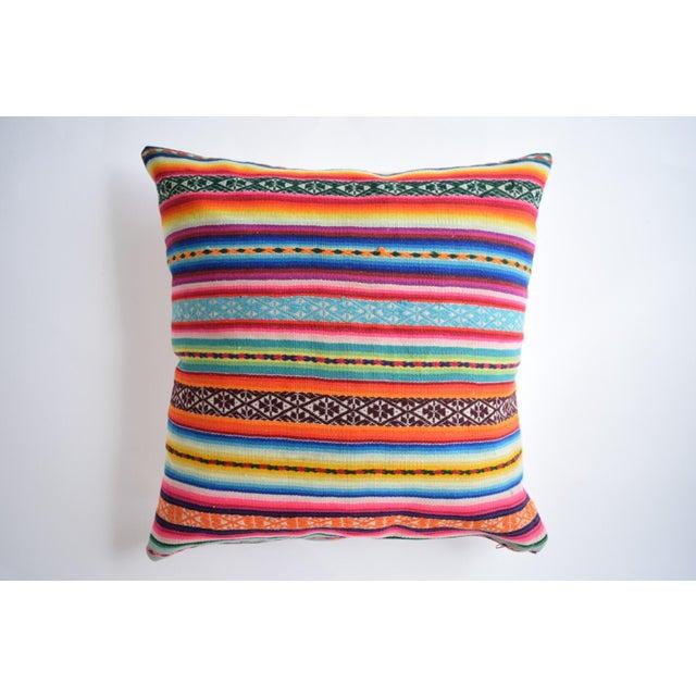 Boho Striped Manta Pillow - Image 3 of 6
