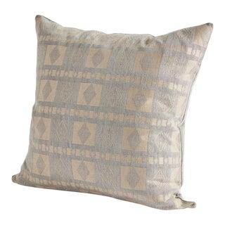 Handwoven Katsina Pillow in Sahel Grey and Ancient Nok Camel For Sale
