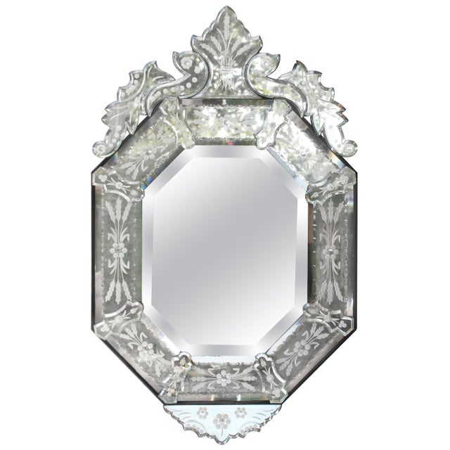 Venetian Style Glass Mirror For Sale - Image 12 of 12