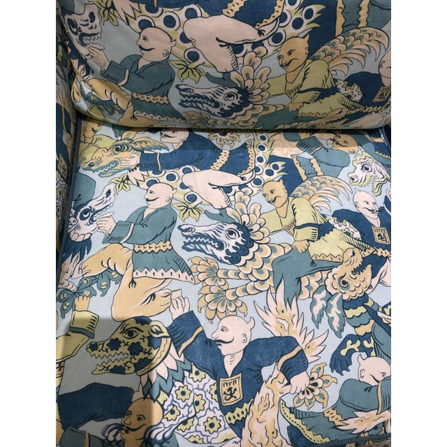 Fabric Early 21st Century Vintage Dragon Dance Heath Chair For Sale - Image 7 of 10
