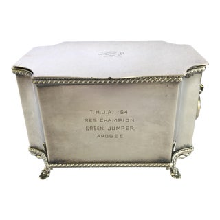 George III Style Silver Equestrian Box For Sale