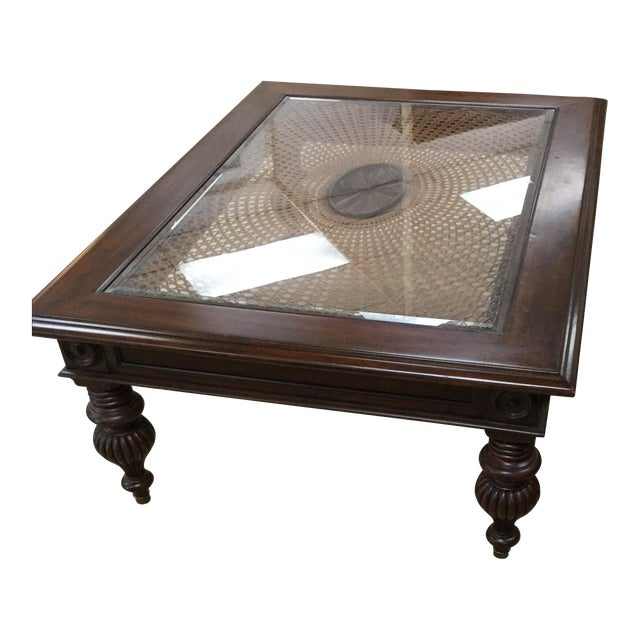 Glass Top Coffee Table Ethan Allen: Ethan Allen British Colonial Coffee Table