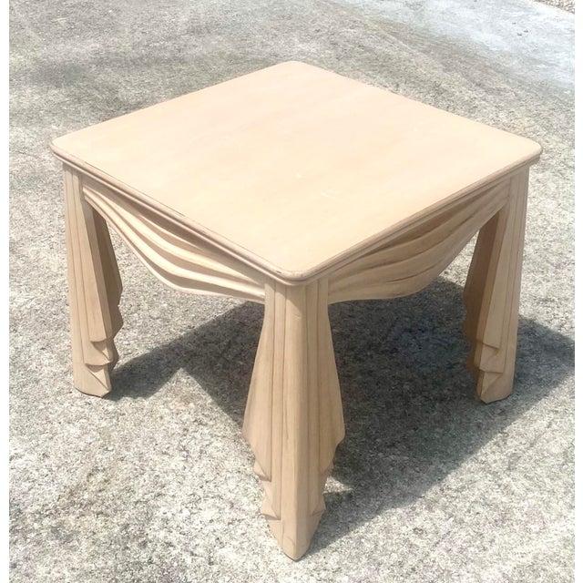 Vintage Regency Swag Draped Side Table For Sale - Image 4 of 9