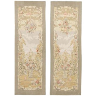 Chinese Aubusson Wall Tapestries - A Pair For Sale