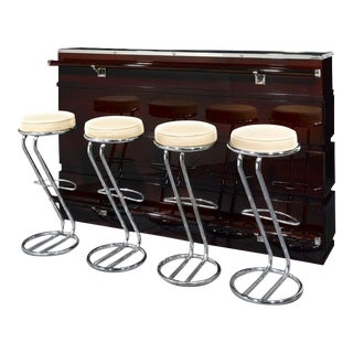 Art Deco Bar and Stools For Sale
