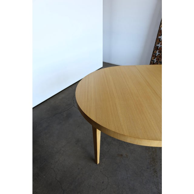 Tan Edward Wormley Dining Table for Dunbar Circa 1950 For Sale - Image 8 of 13
