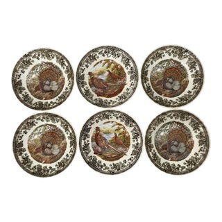 Early 20th Century Queen's Quintessential Game Bowls - Set of 6 For Sale