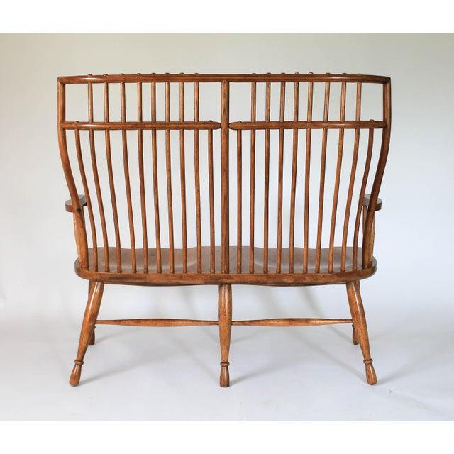 High Back Solid Oak Bench - Image 5 of 11