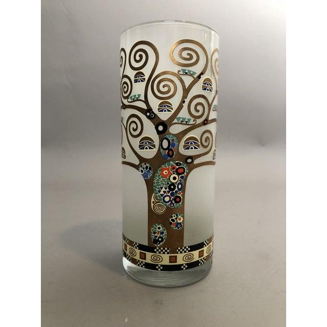 Art Nouveau Gustav Klimt Glass Vase For Sale - Image 3 of 5