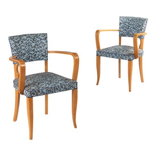 1940's French Art Deco Bridge Armchairs - A Pair