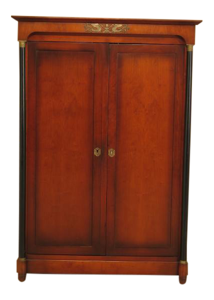 French Empire Cherry 2 Door Armoire Wardrobe