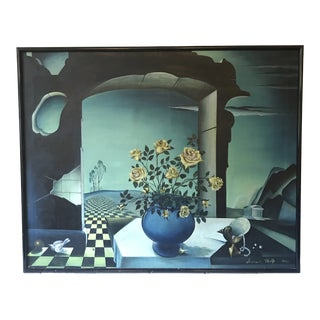 Surrealist Painting by Frederick Wolfe, 1949 For Sale