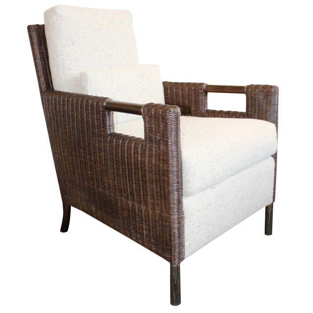 McGuire Thomas Pheasant Woven Core Club Chair For Sale