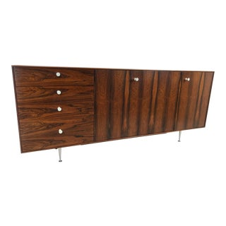 1950s George Nelson for Herman Miller Thin Edge Rosewood Credenza For Sale