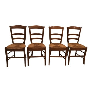 1990s Vintage Wood Side or Dining Chairs- Set of 4 For Sale