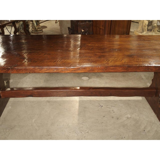 Brown Antique Italy, 19th Century Oak Dining Table For Sale - Image 8 of 11