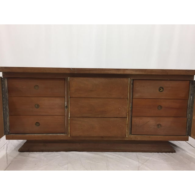 Gold Mid-Century Modern Brutalist Kagan Style Dresser For Sale - Image 8 of 11