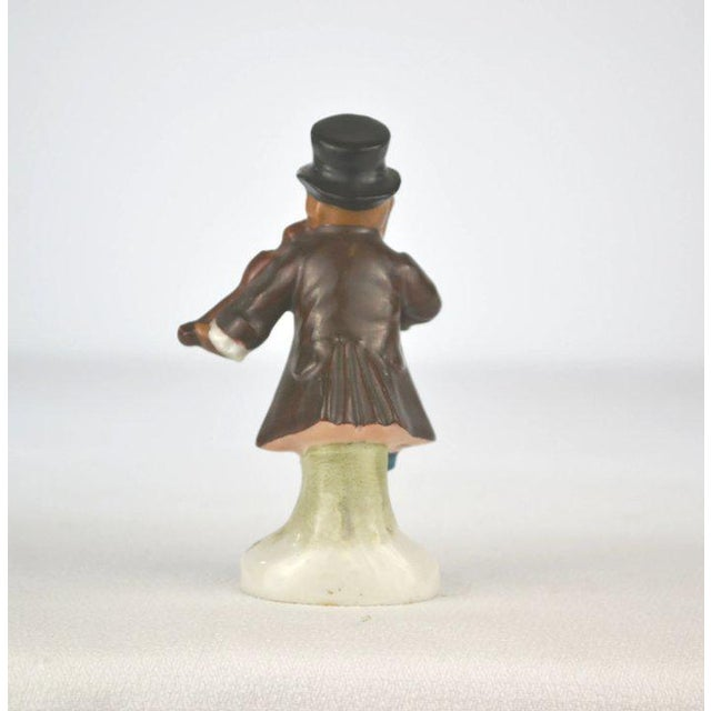Antique Porcelain Monkey Musician, from Germany, Brown Coat For Sale - Image 4 of 8