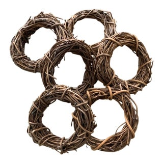 Vintage Grapevine Napkin Rings - Set of 7 For Sale
