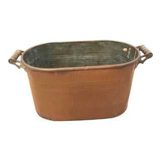 Early 20th Century Vintage Copper Basin For Sale
