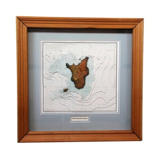 Modern Santa Barbara Island Topographic 3d Map Display