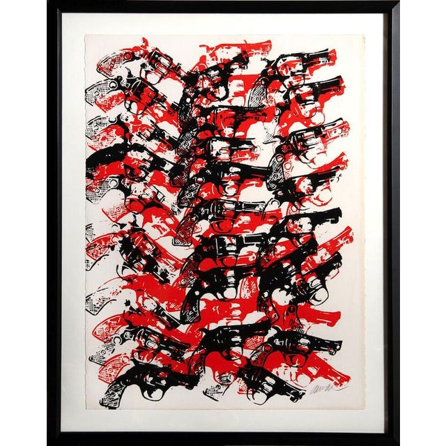 "Arman, ""Bloody Guns,"" Serigraph - Image 1 of 2"