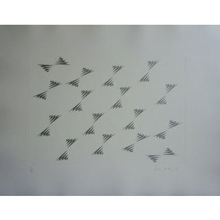 """Late 20th Century """"Encounter Suite Panta Rhei"""" Minimalist Etching by Tess Mistral Jaray For Sale"""